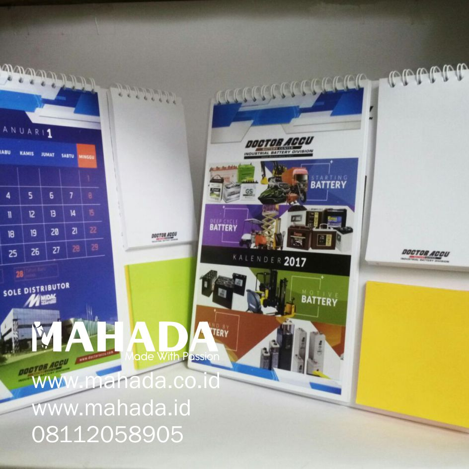 Percetakan Souvenir Kalender Meja Dinding Custom Sticky Notes