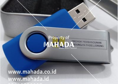 Pusat Souvenir Paket Seminar New Normal Kit Flashdisk Kartu Promosi Kayu Rubber Metal Aktilik Custom Logo - Mahada Indonesia